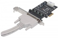MANHATTAN Serial PCI Express Card, Adapter with four DB9 ports
