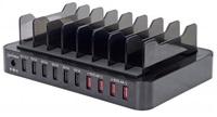 MANHATTAN 10-portová USB nabíjecí stanice, 76 W, 12 A USB Charging Dock with QC 2.0, Eight-bay Stand