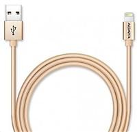 ADATA Sync & Charge Lightning kabel - USB A 2.0, 100cm, hliníková, zlatá