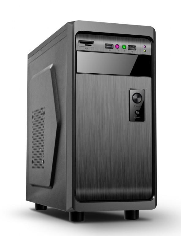Gembird ATX PC case, mini-tower, black, ''Fornax 100''