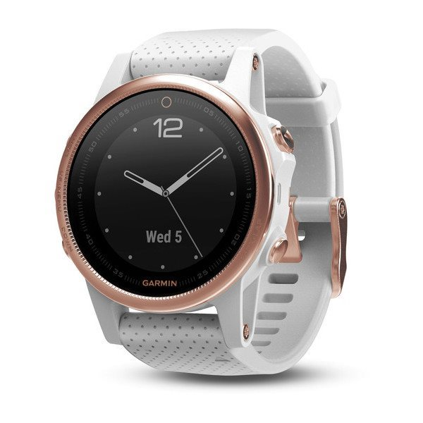 Garmin fenix5S Sapphire Rose Gold Optic, White band
