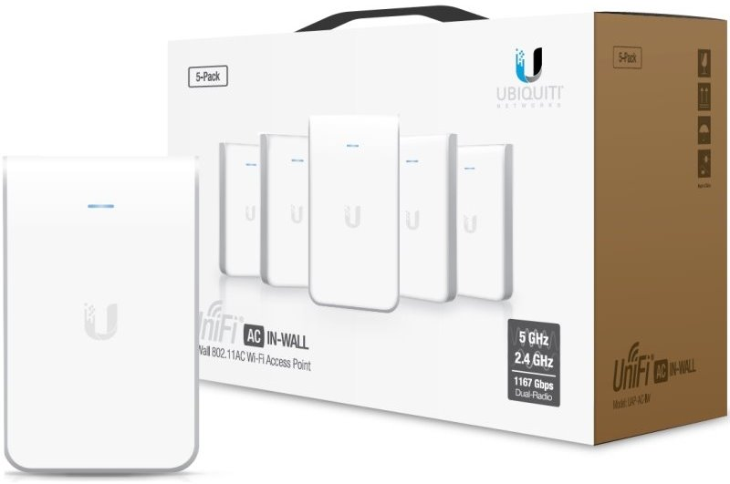 UBNT UniFi AP, AC, In Wall, 5-Pack