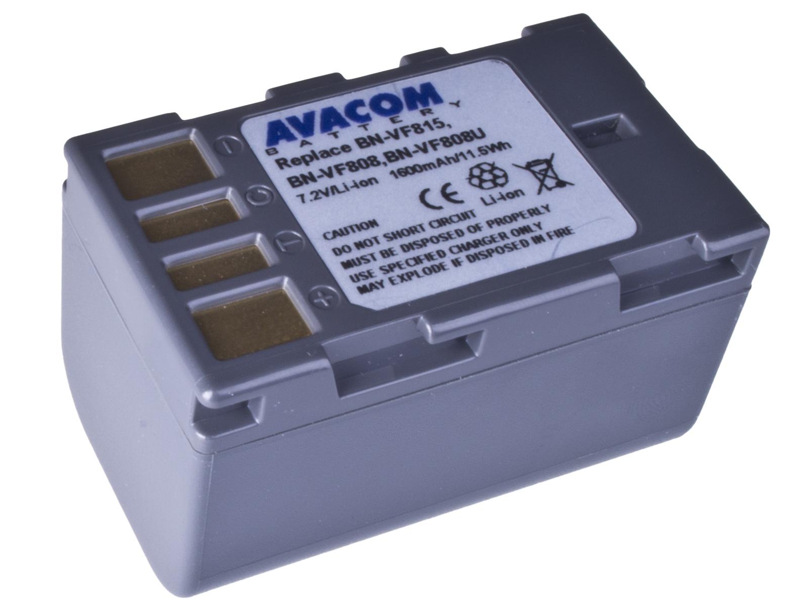 Baterie AVACOM JVC BN-VF808 Li-Ion 7.2V 1600mAh