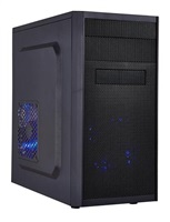 EUROCASE skříň MC X203 black, micro tower, without fans, 2x USB 2.0 (without splitter)