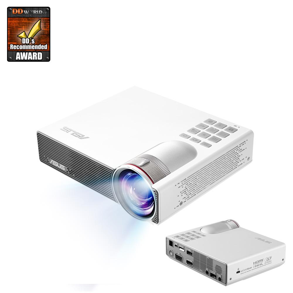 "ASUS PROJEKTOR LED - P3B - 1280x800, SHORT ROW, 800lum, D-SUB, HDMI, USB, repro, 58""z 1m, Baterie 3h, WIFI READY"