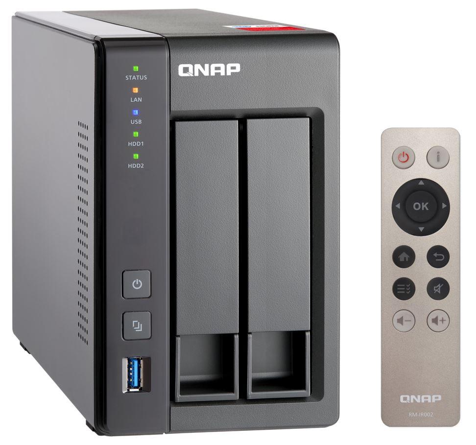 QNAP TS-251+-2G (2,42GHz / 2GB RAM / 2x SATA / 2x GbE / 1x HDMI / 2x USB 2.0 / 2x USB 3.0)