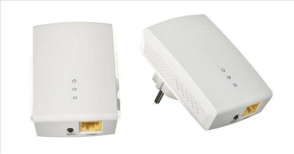 Zyxel PLA5405 Twin Pack, 2x 1200Mbps Powerline Past-Thru Gigabit Adapter, Directplug design, 128-bit AEC Protection, WPS