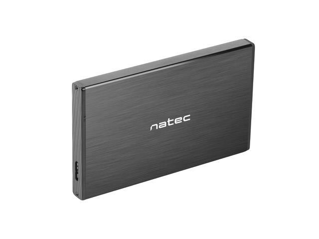 Externí box Natec NKZ-0941 RHINO GO pro 2.5'' SATA HDD/SSD, USB 3.0, hliníkový, černý