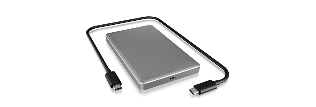 ICYBOX IB-245-C31-G IcyBox Externí box pro 2,5 SATA HDD/SSD 9.5mm, USB 3.1 Type-C, Silver