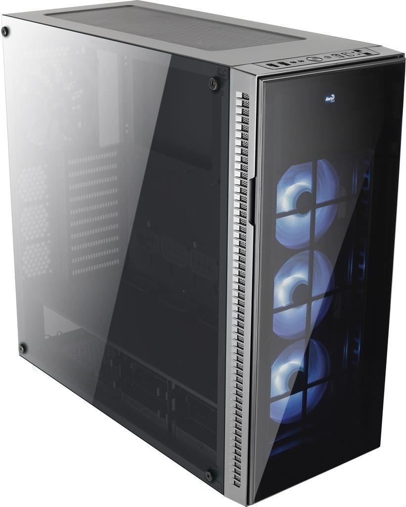 PC skříň Aerocool ATX QUARTZ PRO Tempered Glass, USB 3.0,bez zdroje