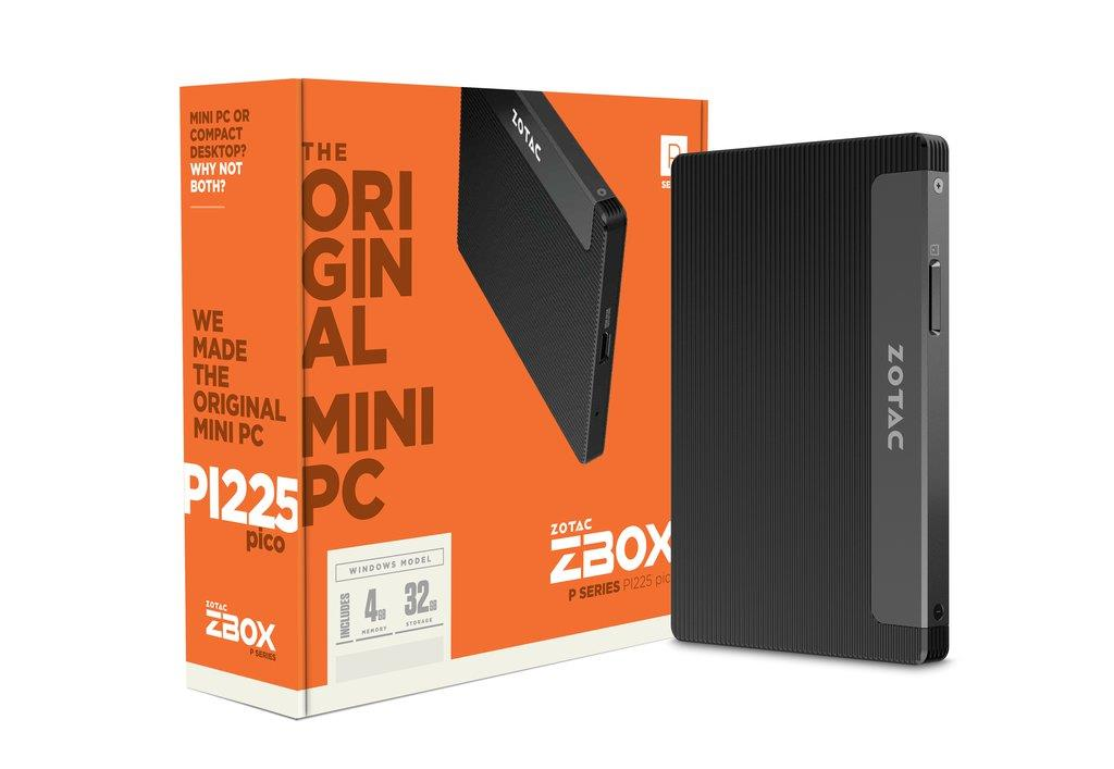 ZBOX PI225 PICO Stick-PC, Intel N3350, 4GB DDR3 , 32GB eMMC, WIN 10