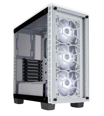 Corsair PC skříň Crystal Series 460X RGB Compact ATX Mid-Tower,tvrzené sklo,bílá