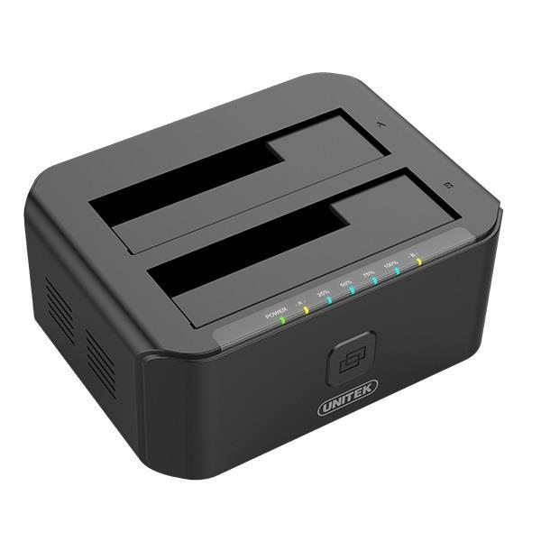 Unitek Y-3032 dokovací stanice dual HDD USB 3.0, funkce klonování offline
