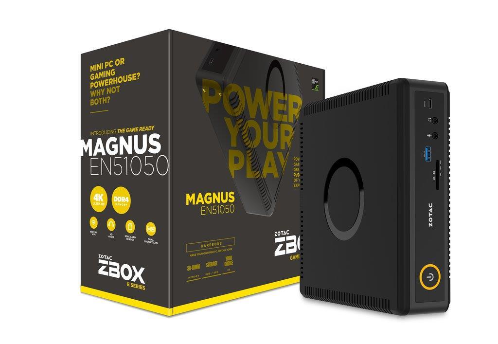 ZOTAC MAGNUS ER51070, AMD R5 1400, GTX1070 8G mini, 2x DDR4 SODIMM, 4x M2 PCIe