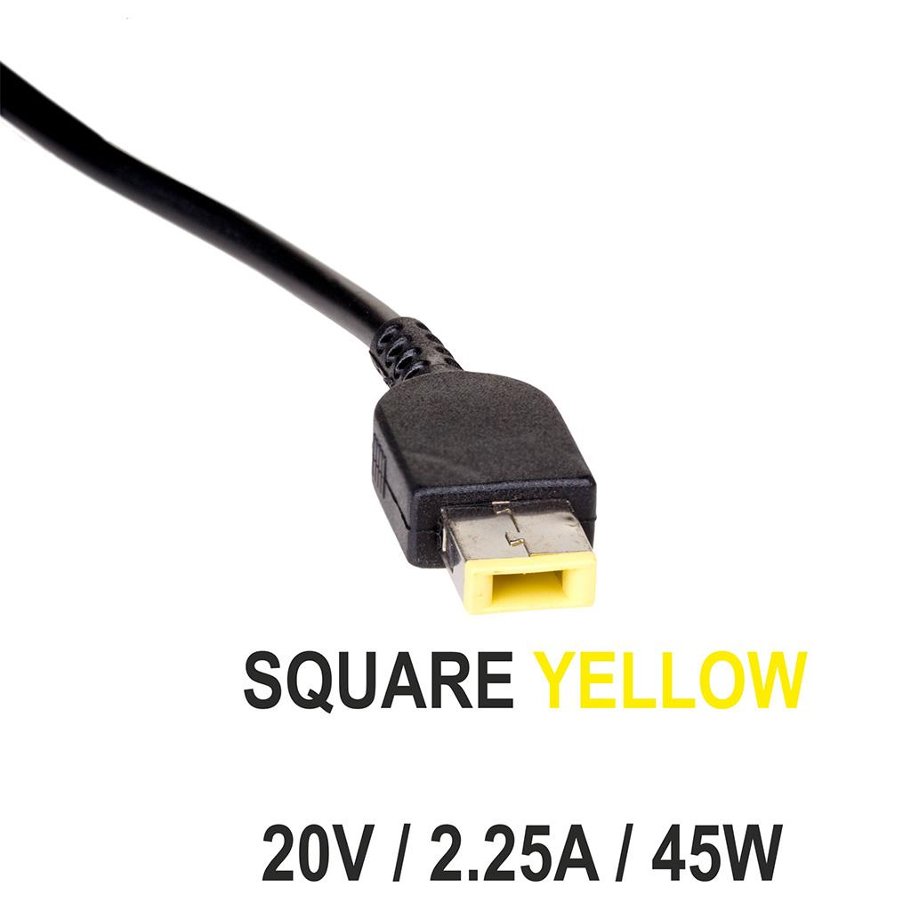 Akyga Notebook power supply AK-ND-51 20V/2.25A 45W Square yellow LENOVO
