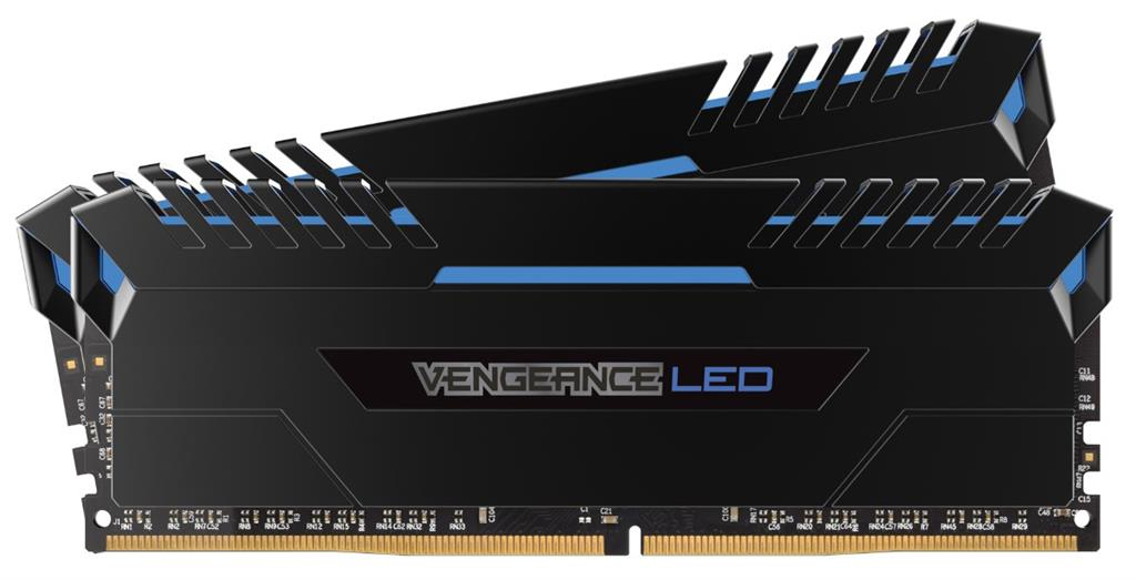 Corsair Vengeance Black Heat spreader Blue LED ,DDR4, 3000MHz 32GB 2 x 288 DIMM