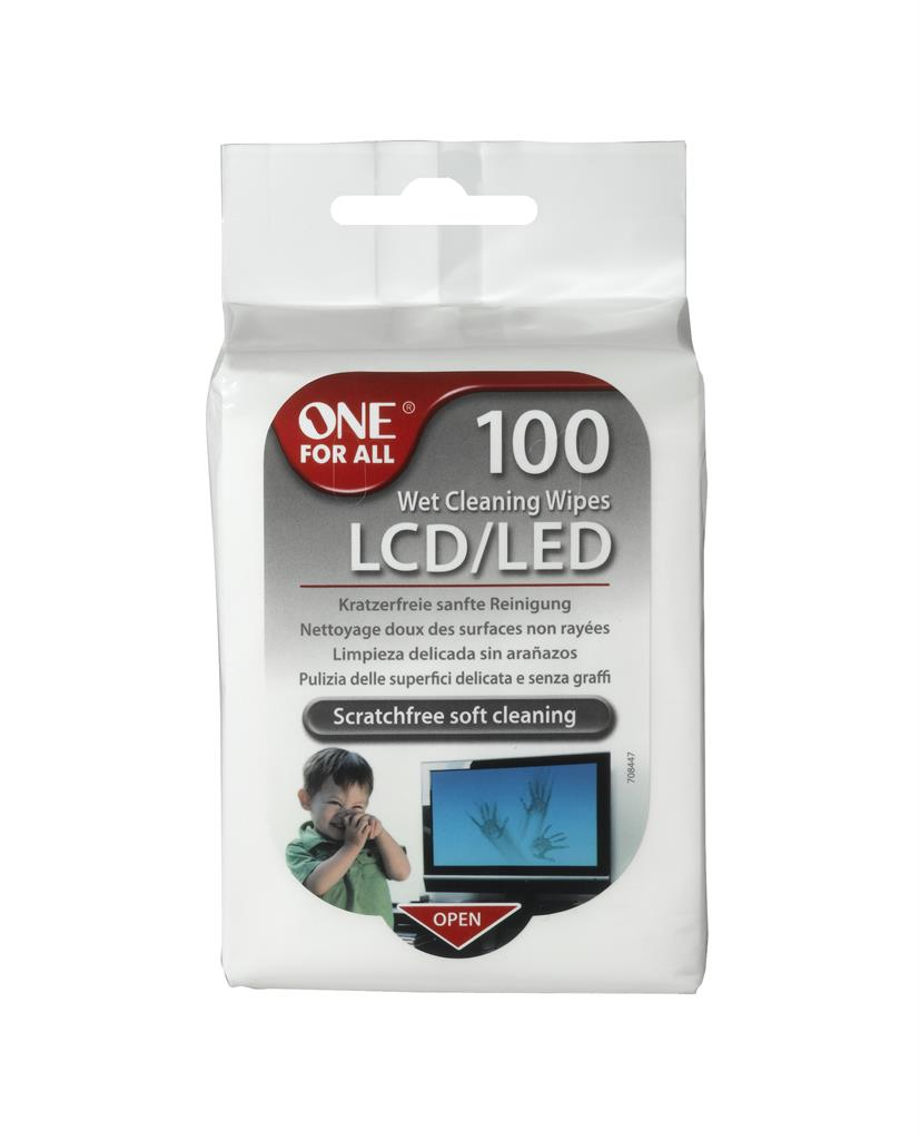 4World/OFA Vlhké čisticí aromatizované kapesníčky tft&lcd 100ks