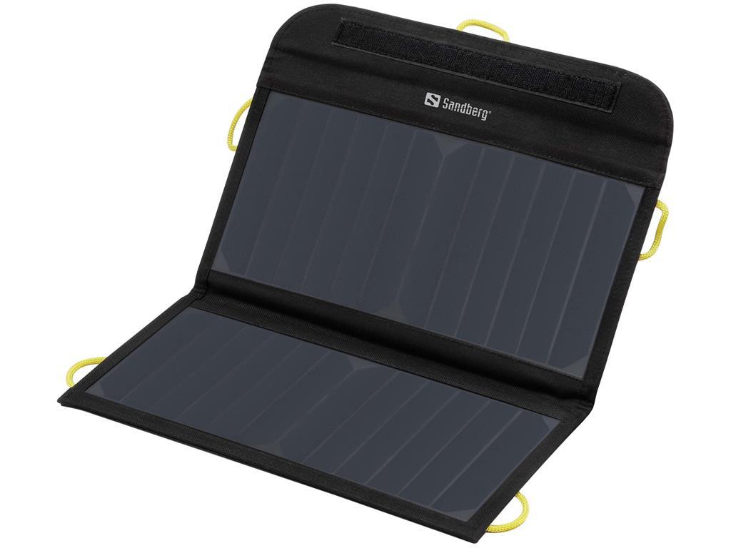 Sandberg Solar Charger 13W 2xUSB, solární nabíječka, černá