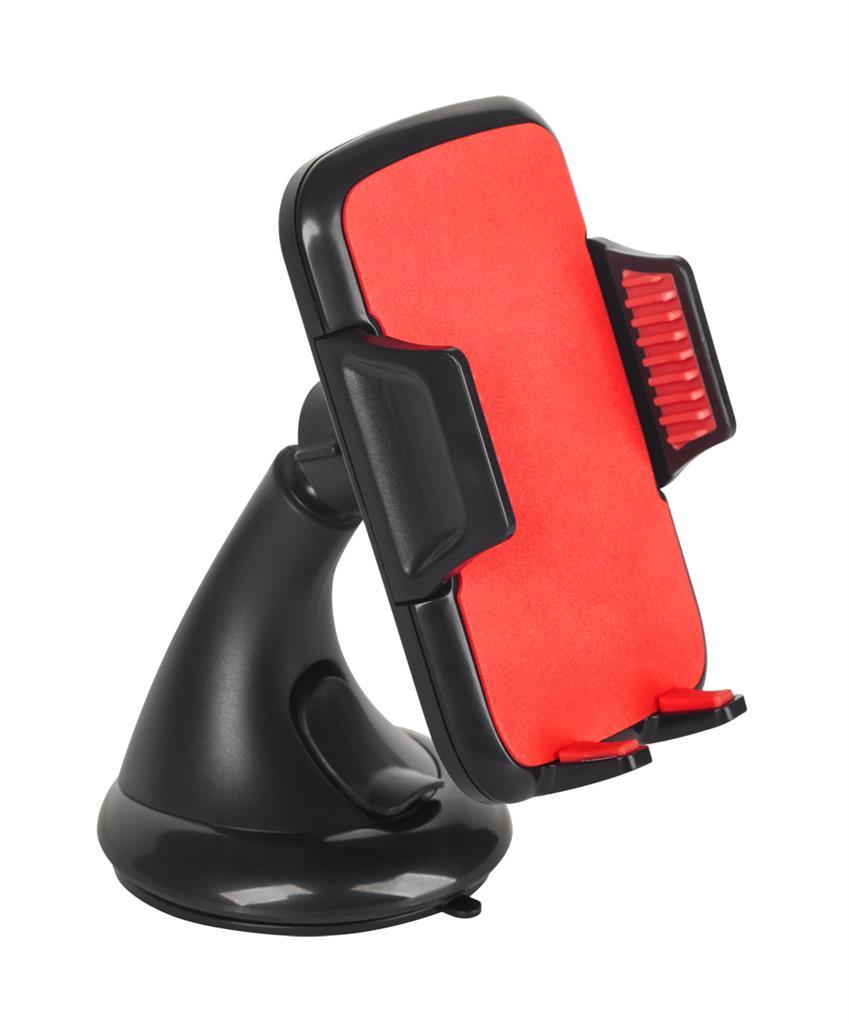 M-LIFE Univerzální držák do auta pro telefony 5.5-8.7cm, červený
