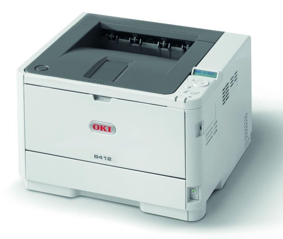 OKI B412dn A4, čb, 1200x1200, 33 ppm, USB 2.0 ,PCL6, duplex, síť