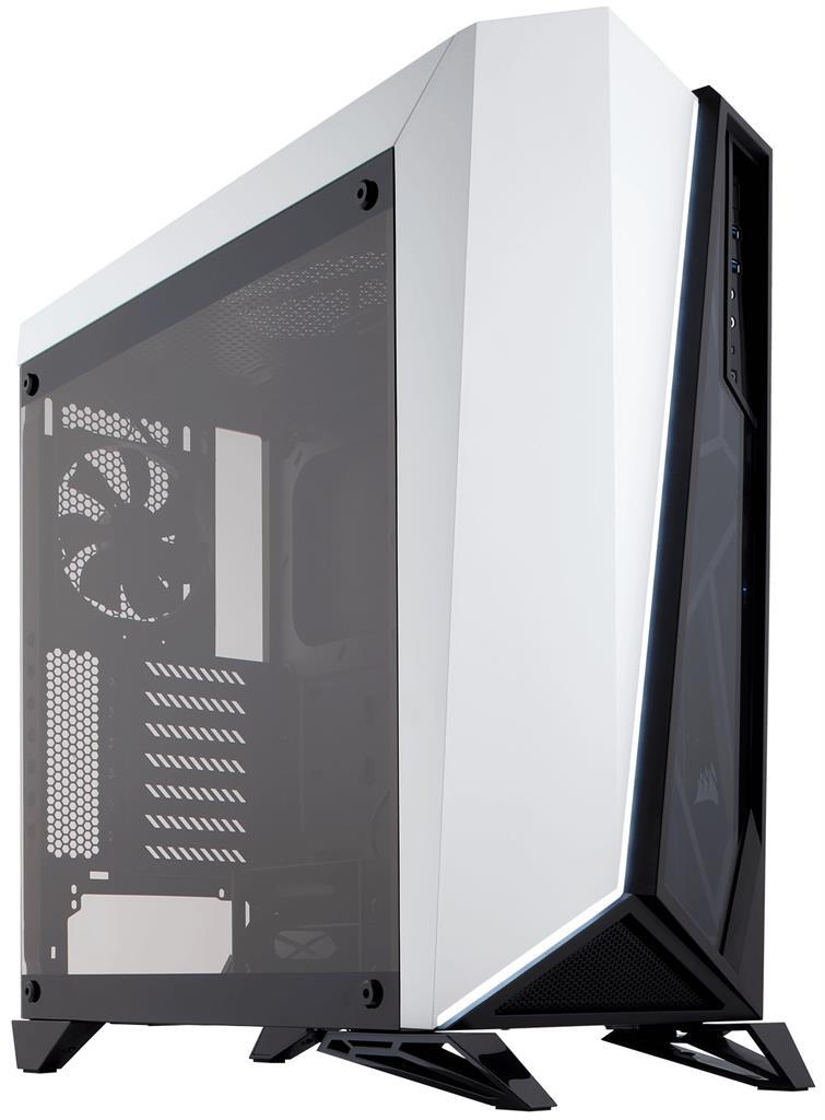 Corsair PC skříň Carbide Series Spec-Omega RGB ATX Mid-Tower, tvrzené sklo, bílá