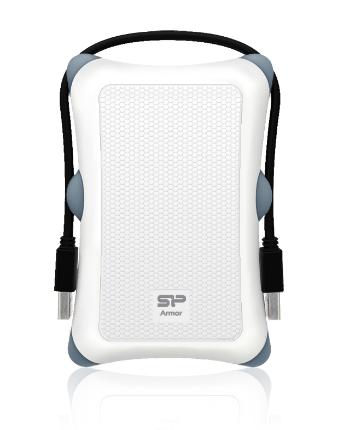 SILICONPOW SP000HSPHDA30S3W Silicon Power externí box na HDD 2,5 A30 SATA, USB 3.0, Anti-Shock,bílá