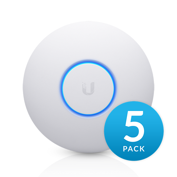 Ubiquiti UAP-AC-SHD - UniFi Wave2 AC AP, Security and BLE, 5-Pack