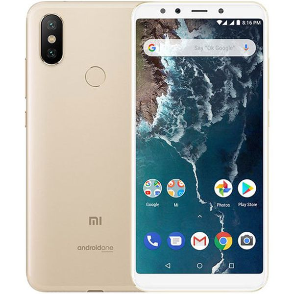 Xiaomi Mi A2 Global Gold/5,99´´ FullHD+/2GHz OC/4GB/64GB/2xSIM/12+20MPx/3000mAh
