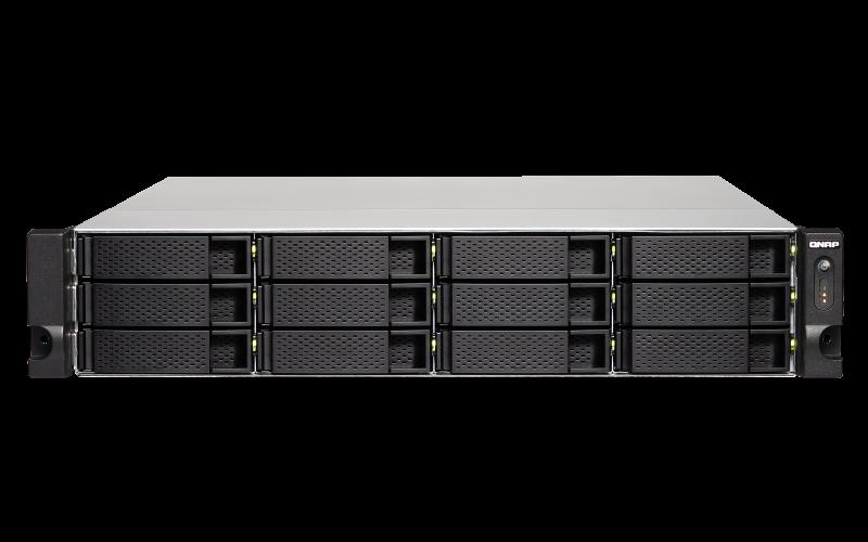 QNAP TS-1263XU-RP-4G (2.0GHz / 4GB DD3 / 4GbE + 10GbE 10GBASE-T / 12x SATA / Redundant Power )