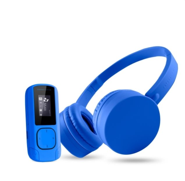 ENERGY Music Pack Bluetooth Blue - MP3 Clip Bluetooth + Headphones BT1