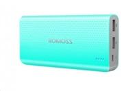 ROMOSS sense 15 PHP15 Blue Power Bank Capacity:15000mAh (Cell: Li-polymer) Input: DC5V 2.1A