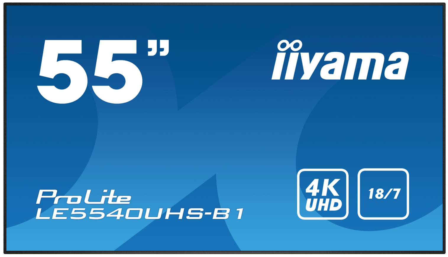 "55"" iiyama LE5540UHS-B1 - AMVA3,4K UHD,8ms,350cd/m2, 4000:1,16:9,VGA,HDMI,DVI,USB,RS232,RJ45,repro"