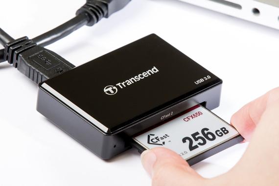 Transcend čtečka paměťových karet USB3.0, CFast 2.0/CFast 1.1/CFast 1.0