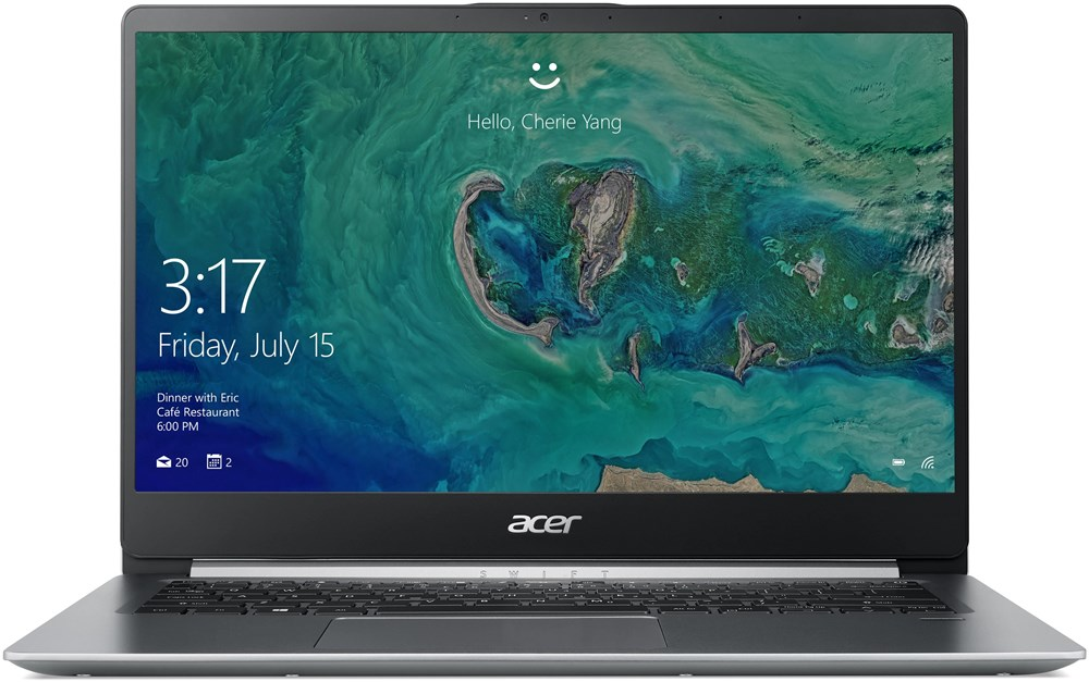 """Acer Swift 1 (SF114-32-P1RE) Pentium N5000/4GB+N/A/128GB SSD M.2+N/A/HD Graphics/14""""FHD IPS LED matný/BT/W10 Home in S mode/Silver"""