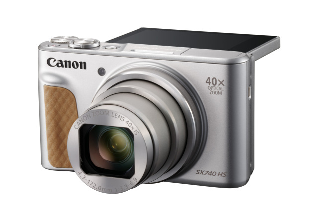 Canon PowerShot SX740HS, Silver - 20MP, 40x zoom, 24-960mm, 4K