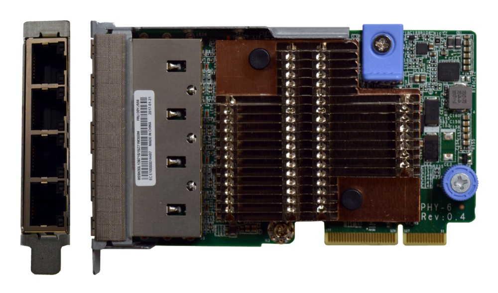 Lenovo ThinkSystem 10Gb 4-port RJ45 LOM - SR630, SR650, SR850, SR950