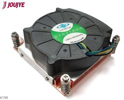 Jou Jye Cooler K199G Intel 1150/-51/-55/-56 - 1U Active Copper heatsink with PWM up to 95W TDP