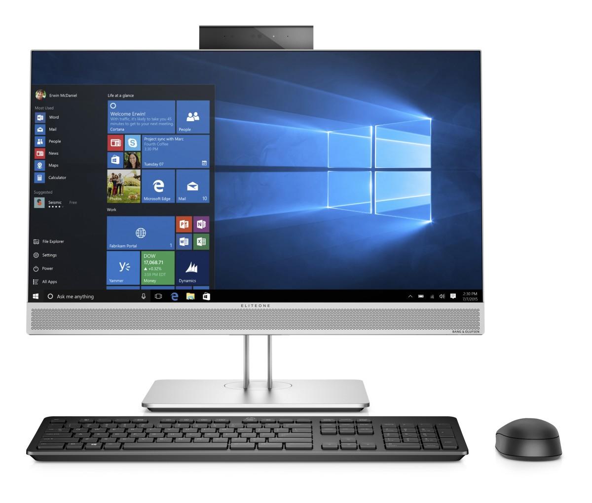 HP EliteOne 800G4 AiO 23.8T i7-8700,8GB,256GB M.2,WiFia/b/g/n/ac+BT VPro,wrls kláv. myš,SD MCR,DVDRW, DP+HDMI, Win10Pro