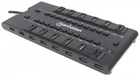 MANHATTAN USB 3.0 hub MondoHub II, 28 portů (24x USB 2.0 + 4x USB 3.0)