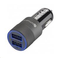 4smarts nabíječka do auta Hybrid Fast Charge, 1x USB 2,1 A, 1x USB 1 A, černá