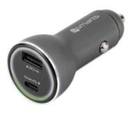 4smarts nabíječka do auta VoltRoad Quick Charge, 1x USB, 1x USB-C, 3 A, černá