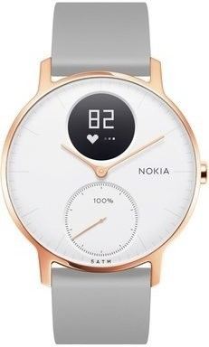Nokia Steel HR (36mm) Rose Gold w/ Grey Silicone wristband