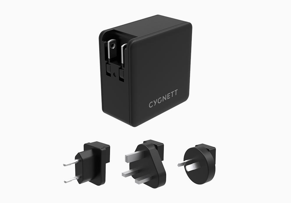 Cygnett DUAL USB-C,USB-A PD cestovní nabíječka 57W