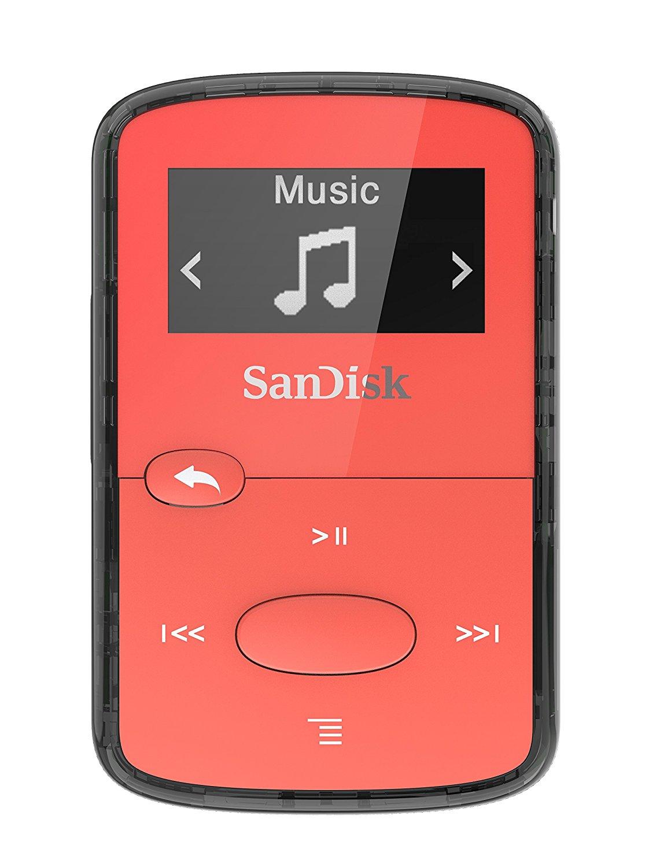 SanDisk MP3 Clip JAM 8GB jasně červená
