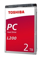 "TOSHIBA HDD L200 Laptop PC (SMR) 2TB, SATA III, 5400 rpm, 128MB cache, 2,5"", 9,5mm, BULK"