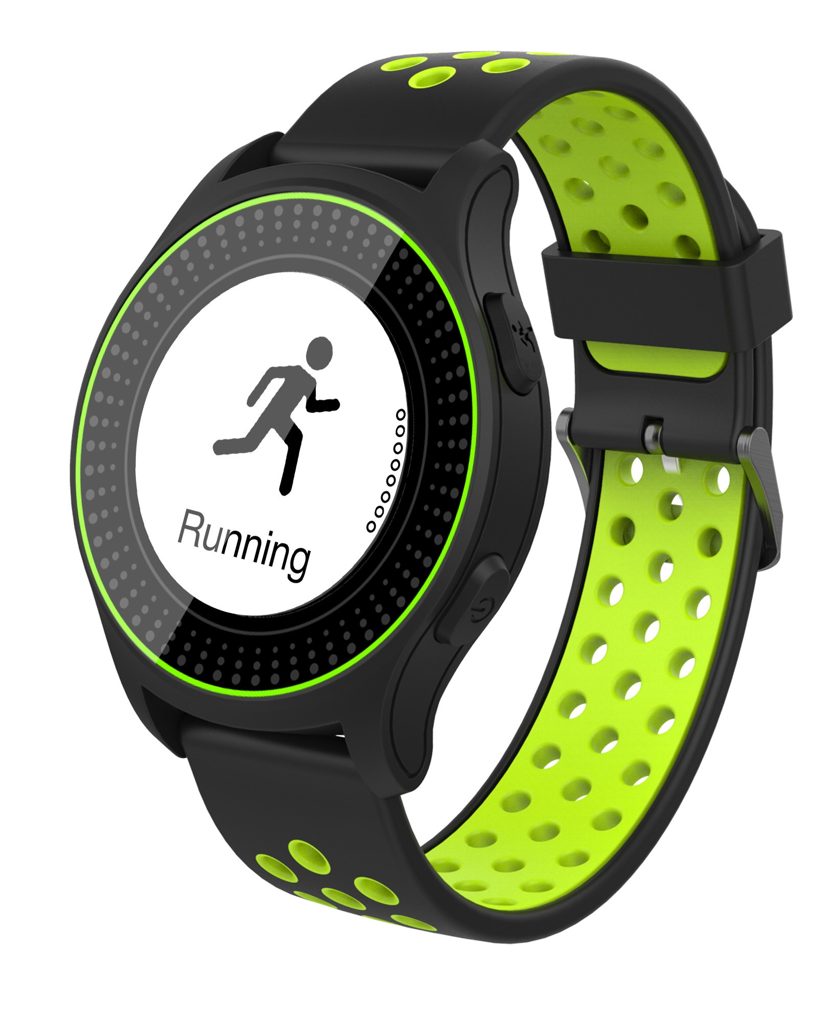 iGET ACTIVE A2 Green - chytré hodinky, IP68, LCD, GPS, BT 4.0, export STRAVA, 300 mAh, Multisport