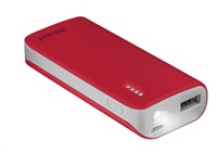 TRUST PRIMO POWERBANK 4400 PORTABLE CHARGER, red