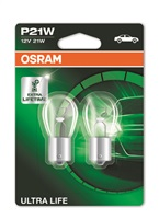 OSRAM autožárovka P21W ULTRA LIFE 12V 21W BA15S (Blistr 2ks)