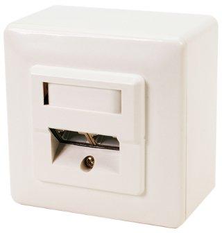 LOGILINK - Zásuvka na zeď CAT6 2xRJ45 RAL 9003 plně stíněná