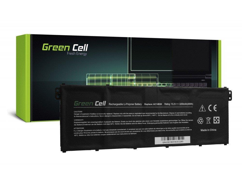 Bateria Green Cell AC14B3K AC14B8K do Acer Aspire 5 A515 A517 E15 ES1-512 ES1-53